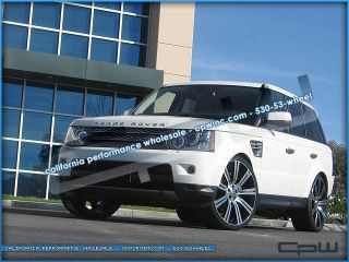 Range Rover 24 inch Wheels Rims Sport LR3 LR4 Black Machined Stormer