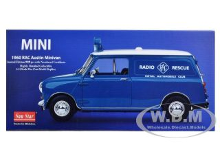 1960 Austin Morris Mini Van Rac Rescue 1 12 Diecast Model Car by
