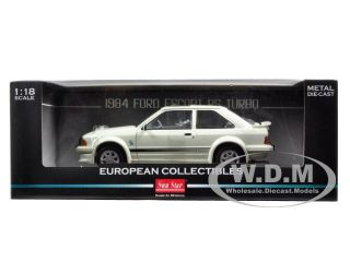 Brand new 118 scale diecast model car of 1984 Ford Escort RS Turbo
