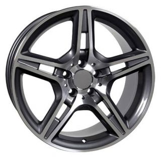 18 Gunmetal AMG Wheels Set of 4 Rims Fit Mercedes C E s Class SLK CLK