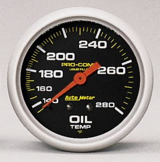 Autometer Pro Comp Mechanical Oil Temperature Gauge 2 5 8 Dia Black