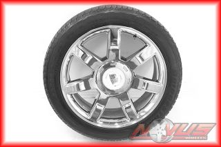 22 CADILLAC ESCALADE CHROME OEM WHEELS BRIDGESTONE TIRES CHEVY TAHOE