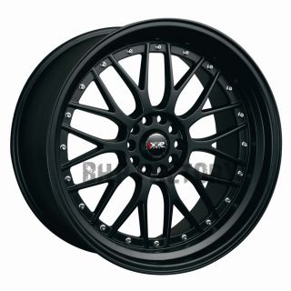 7J ET38 4x114.3 4x100 FLAT BLACK TUNER BBS STYLE ALLOYS RIMS WHEELS