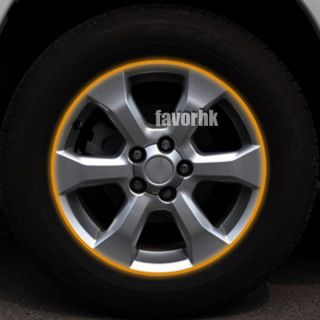 16 Car Yellow Tape Motorcycle Wheel Rim Decal Stickers