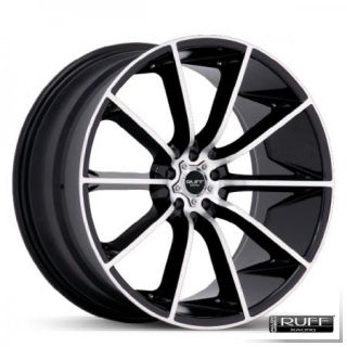 20 Black Ruff Racing Wheels Rims 2010 Camaro LS RS SS