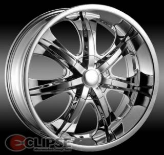24x9 5 ET13 Chrome Elure 025 Wheels Rims 5 or 6 Lug Rear Wheel Drive