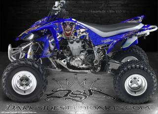 Yamaha YFZ450 ATV Graphics The Jesters Grin Special Edition Black