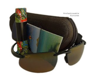 NEW 2012 MAUI JIM KANAHA BLACK FRAME BRONZE POLARIZED LENS H409 02 MJ