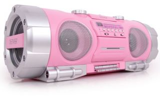 Ghettoblaster CD Player Radio Denver TCD 86 pink Karton beschaedigt