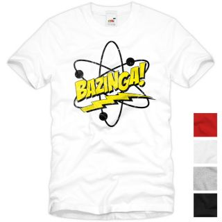 BAZINGA The Big Bang Theory Vintage T Shirt Sheldon TV Serie Fan