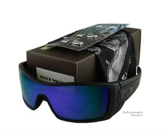 NEW 2012 OAKLEY BATWOLF MATTE BLK/VIOLET IRIDIUM PURPLE LENS OO9101 11