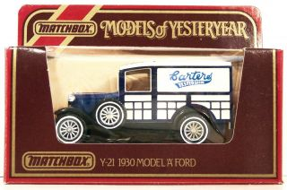 MATCHBOX ~ YESTERYEAR ~ Y 21 ~ 1930 FORD MODEL A TRUCK ~ CARTERS