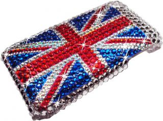 ENGLAND FLAG DIAMOND BLING CASE COVER FOR IPHONE 3G 3GS