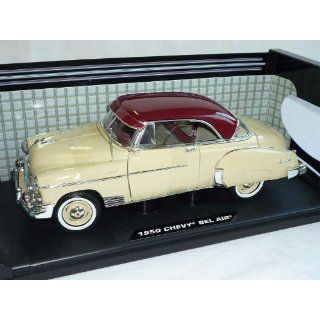 CHEVROLET CHEVY BEL AIR 1950 COUPE GELB BEIGE OLDTIMER 1/18 MOTORMAX