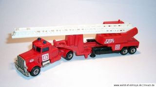 MATCHBOX Superfast Convoy CY 13 Peterbilt Fire Engine Feuerwehr 1984