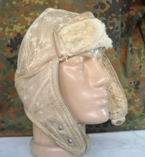 WWII ORIGINAL GERMAN STALINGRAD WINTER FUR HELMET