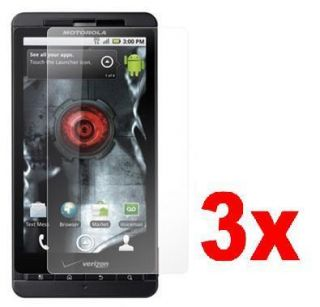 3x Clear LCD Screen Protector Guard Film For Motorola Droid X MB810
