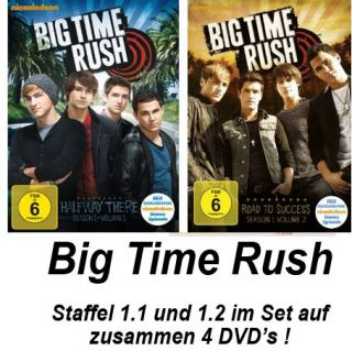DVDs * BIG TIME RUSH   SEASON 1.1 + 1.2 IM SET # NEU OVP