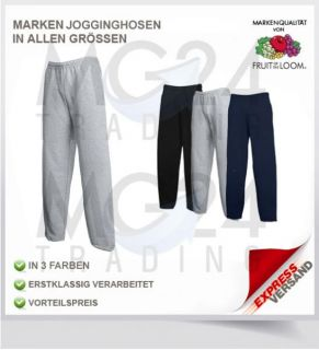 FRUIT OF THE LOOM Jogginghose Gr S M L XL XXL in schwarz, blau und