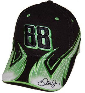 Dale Earnhardt Jr. Black & Green AMP Flame Hat 2008