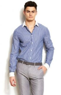 Armani Exchange Mens Banker Stripe Shirt Clothing