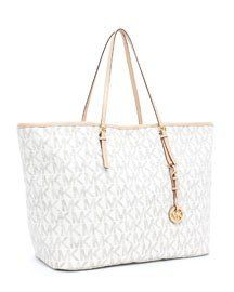 Michael Kors Jet Set Large Travel Tote, Vanilla 30h1gtvt3b