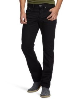 G star Mens 3301 Straight Jeans Black Clothing