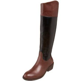 Vince Camuto Womens Karena Knee High Boot,Black/Cognac,5 M US Shoes