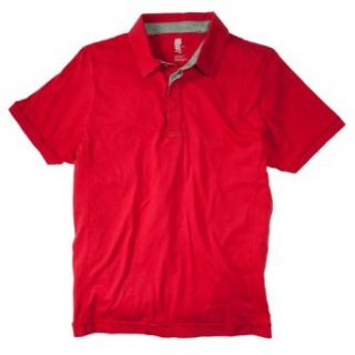 NUMBERLab Mens Pima Jersey Polo Shirt, Racing Red, M