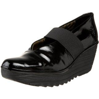 FLY London Womens Yale Mary Jane,Black,38 M EU / 7 B(M) US Shoes