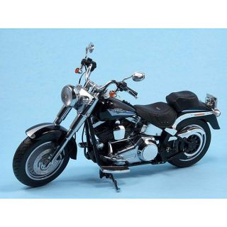 Harley Davidson 2009 Fat Boy Vivid Black Die Cast Motorcycle