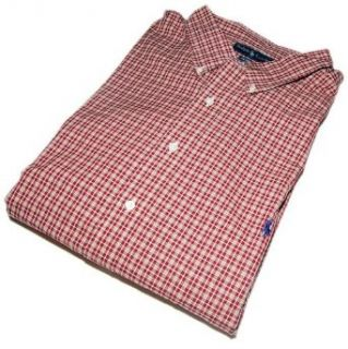 Polo Ralph Lauren Mens Dress Shirt Plaid Check Red