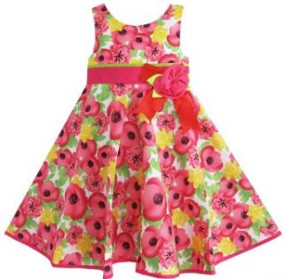 Girls Dress Pink Bow Tie Sundress Party Holiday Sz 2 3