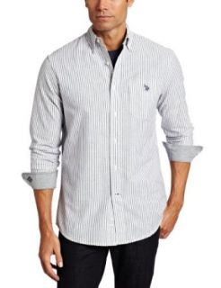 U.S. Polo Assn. Mens Striped Woven Shirt Clothing