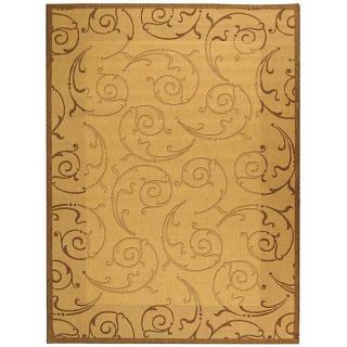 Indoor/ Outdoor Oasis Natural/ Brown Rug (710 x 11)
