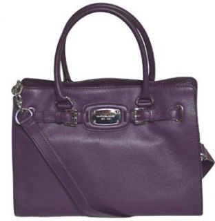 Michael Kors Purple Leather Hamilton Large EW Tote Handbag