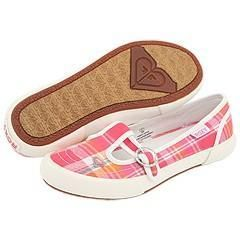 Roxy Kids Tiki (Toddler/Youth) Pink/Orange Plaid Athletic