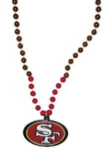 San Francisco 49ers NFL Bead Necklace with Team Medallion