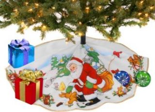 Christmas Santa Tree Skirt Clothing