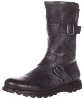 Kenneth Cole REACTION Mens Wedge N Groove Boot,Black,7.5 M US Shoes
