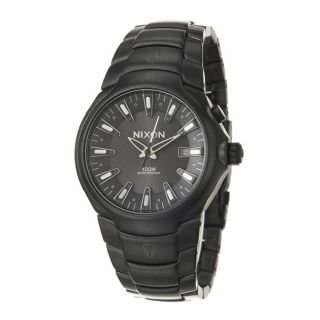 Nixon Mens The Venture Black Stainless Steel Quartz Watch