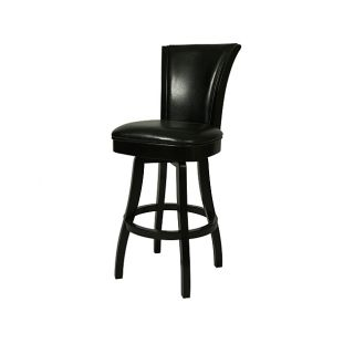 Glenwood Feher Black 26 inch Wood Swivel Counter Stool
