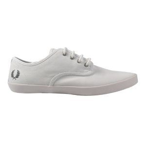 Fred Perry Trainers Shoes Mens Foxx Fine Canvas White Shoes