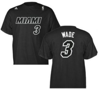 Dwayne Wade Miami Heat 3rd Jersey Black Name and Number T