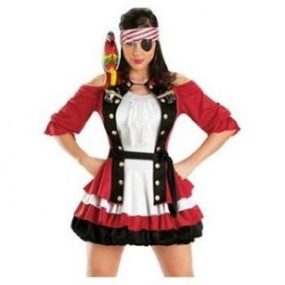 Sexy Women Pirate Costume Capn Shooter X large Clothing