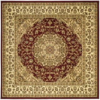 Lyndhurst Collection Red/ Ivory Rug (6 Square)