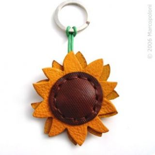 GIRASOLE   Sunflower Italian Leather Key Chain Clothing