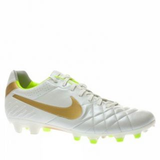 Nike Tiempo Legend IV FG Mens Soccer Cleats White/Gold