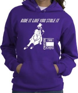Barrel Racing RIDE IT LIKE YOU STOLE IT Purple Hoodie