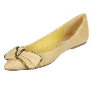 Steve Madden Womens P Sippi Yellow Pointed toe Bow Flats